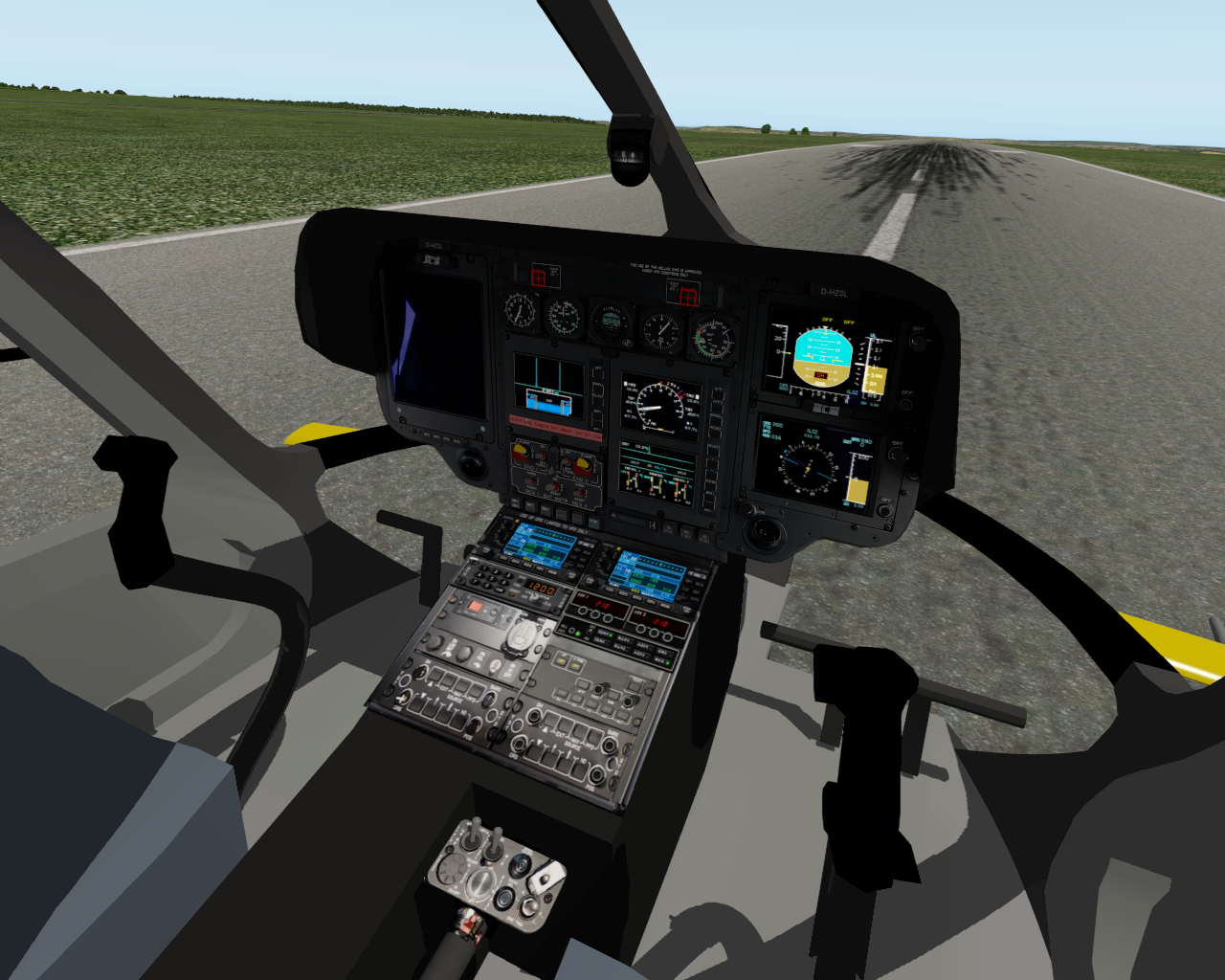 Cockpit der EC 135 V4