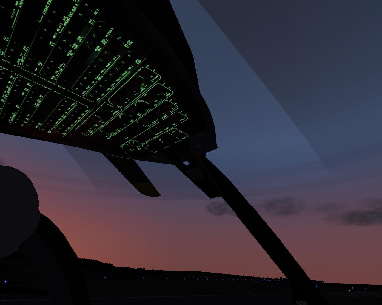 Overhead-Panel mit Nachtbeleuchtung
